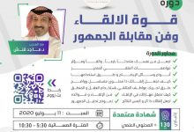 Photo of دورة قوة الإلقاء وفن مقابلة الجمهور مع المدرب د. ماجد قنش